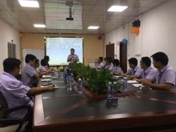 舒飞龙总经理给办公室人员培训学习